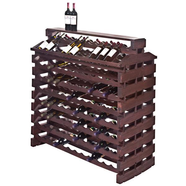 Franmara IF192DX-S Modularack Pro Island Deluxe 192 Bottle Stained Wooden Modular Wine Rack Main Image 1