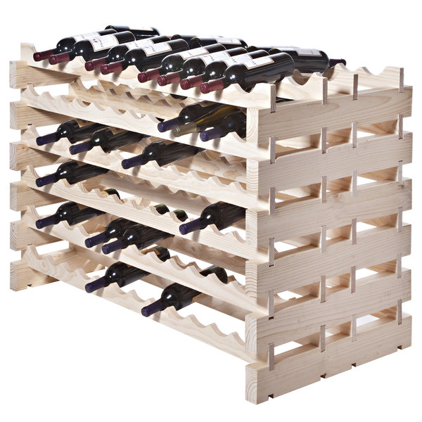 Franmara Dd144 N Modularack Pro Double Deep 144 Bottle Natural Wooden Modular Wine Rack