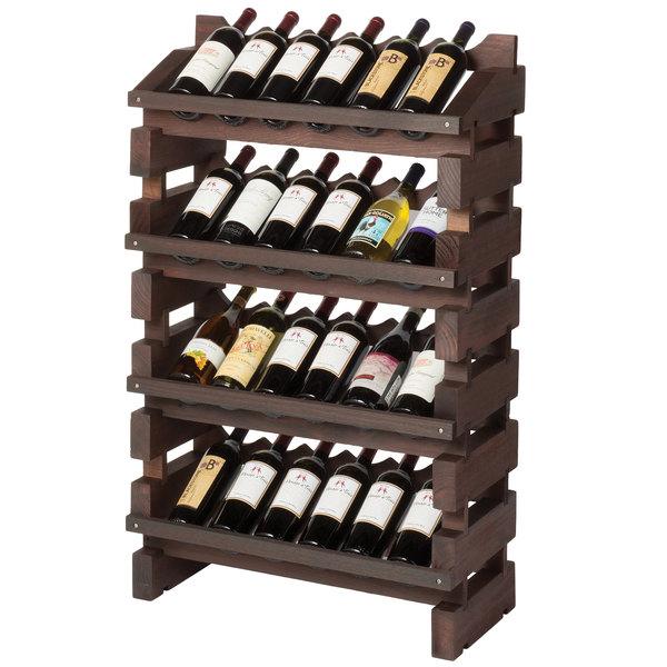 Franmara Fd24 S Modularack Pro Full Display 24 Bottle Stained Wooden Modular Wine Rack