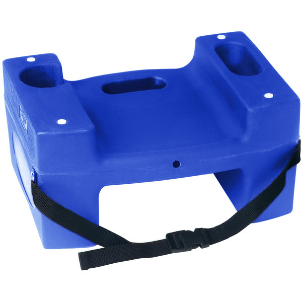 Koala Kare Booster Buddies KB117-S-04 Blue Plastic Booster Seat - Dual Height with Safety Strap - 2/Pack