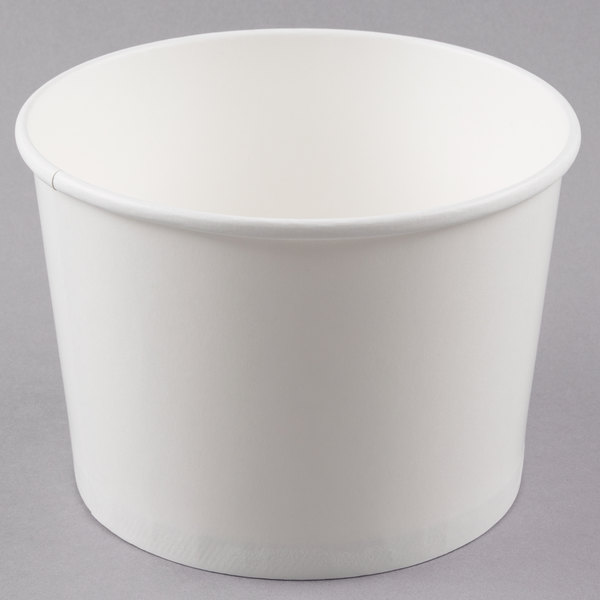 Choice 64 oz. White Double Poly-Coated Paper Soup / Hot Food Cup - 150/Case