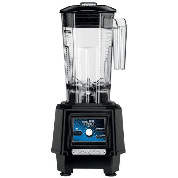 Waring TBB175 2 hp Torq 2.0 Blender with Electronic Touchpad Controls, Variable Speed Control Dial, and 48 oz. Co-Polyester Container Main Image 1