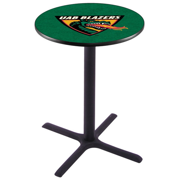 "Holland Bar Stool L211B3628AlaBir 28"" Round University of Alabama at Birmingham Pub Table Main Image 1"