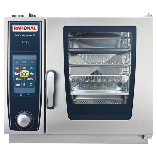 Rational B608106.19 SelfCookingCenter XS 6-2/3 E Single Half Size Electric Combi Oven - 208/240V, 1 Phase, 5.7 kW Main Image 1