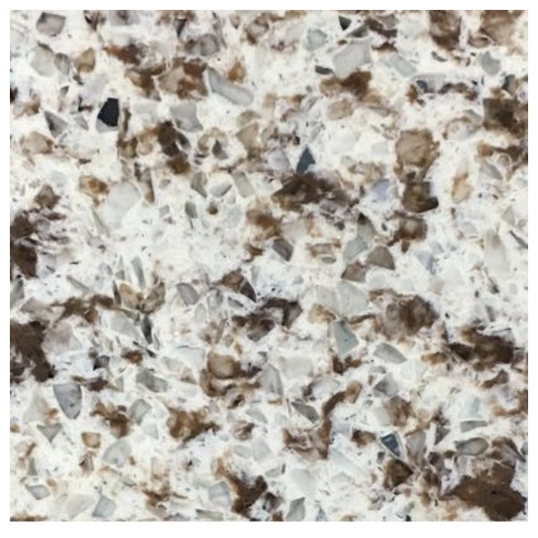"Art Marble Furniture Q411 36"" x 36"" Chocolate Blizzard Quartz Tabletop Main Image 1"