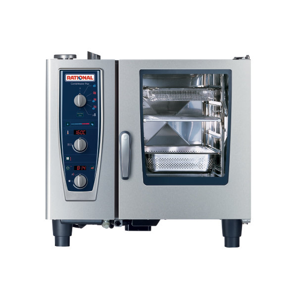 Rational CombiMaster Plus Model 61 B619106.43.202 Single Electric Combi Oven with ClimaPlus Technology- 480V, 3 Phase, 11.1 kW Main Image 1