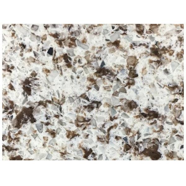 "Art Marble Furniture Q411 30"" x 48"" Chocolate Blizzard Quartz Tabletop Main Image 1"