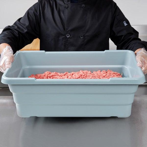 "Choice 25"" x 15"" x 8"" Gray Meat Lug / Tote Box Main Image 7"