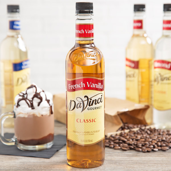 DaVinci Gourmet 750 mL Classic French Vanilla Flavoring Syrup