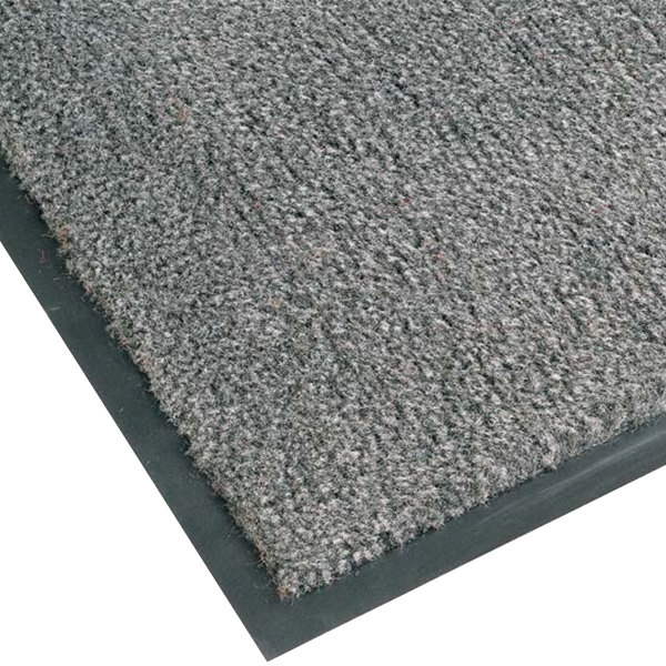 "Teknor Apex NoTrax T37 Atlantic Olefin 434-328 4' x 6' Gunmetal Carpet Entrance Floor Mat - 3/8"" Thick"