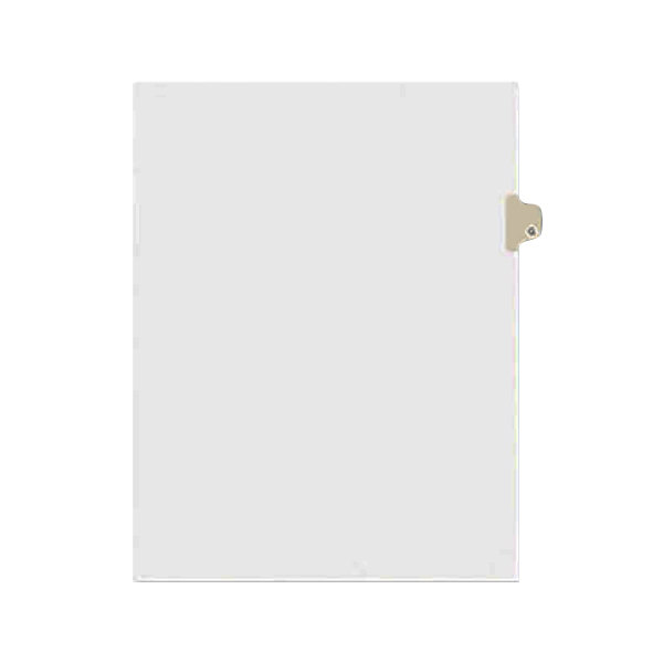 Avery 1407 Individual Legal Exhibit G Side Tab Divider - 25/Pack
