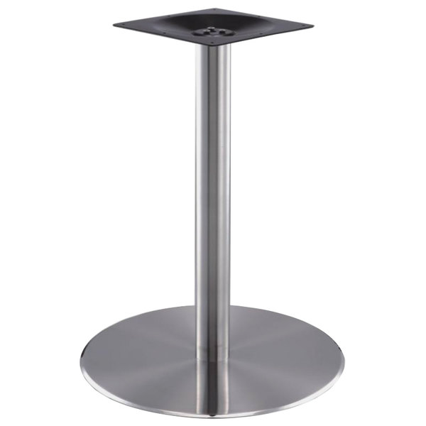 """Round Stainless Base Coffee Height Tables: Art Marble Furniture SS14-17D 17"""" Round Polished Stainless"""