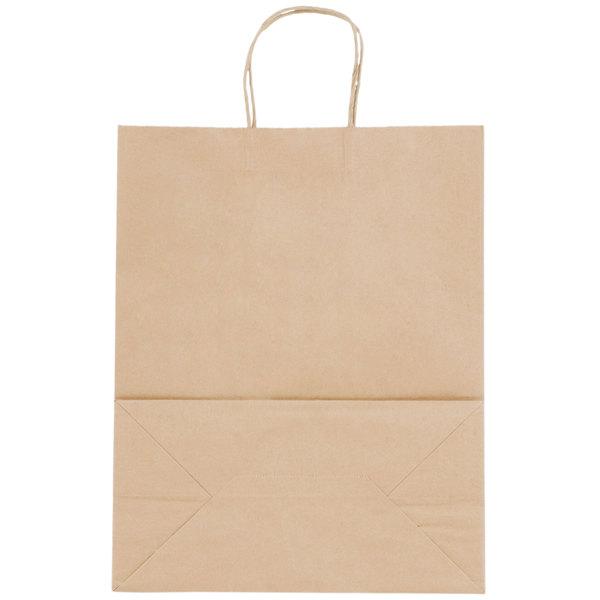 Natural Kraft Senior Shopping Bag with Handles 13 inch x 7 inch x 17 inch - 250/Bundle