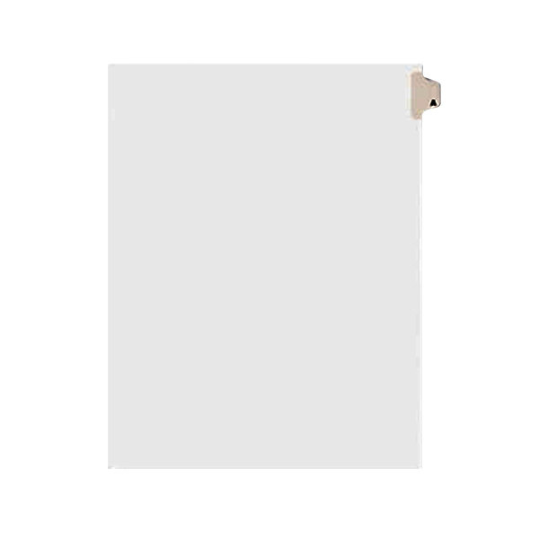 Avery 1401 Individual Legal Exhibit A Side Tab Divider - 25/Pack Main Image 1
