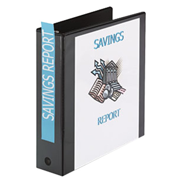 Avery 5730 Black Economy View Binder with 2 inch Round Rings