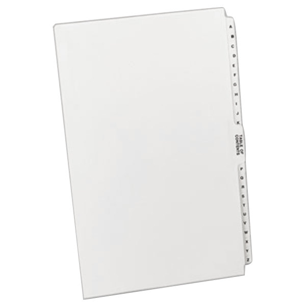 Avery 11375 Premium Collated A-Z Side Tab Table of Contents Legal Exhibit Dividers Main Image 1
