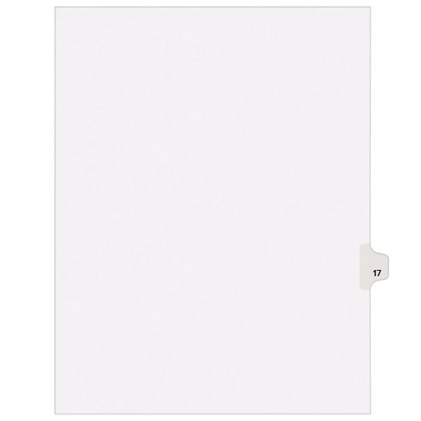 Avery 1017 Individual Legal Exhibit #17 Side Tab Divider - 25/Pack