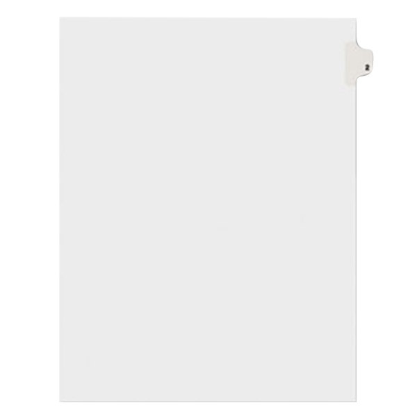 Avery 11912 Individual Legal Exhibit #2 Side Tab Divider - 25/Pack