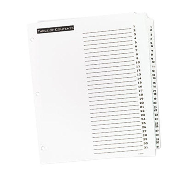31-Tab Letter Office Essentials 11680 Table n Tabs Dividers