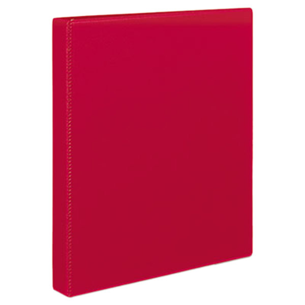 Avery 27201 Red Durable Non-View Binder with 1 inch Slant Rings