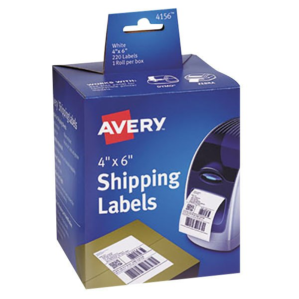 "Avery 4156 4"" x 6"" White Thermal Shipping Labels - 220/Box Main Image 1"