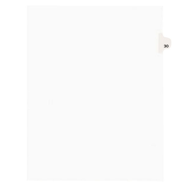 Avery 1030 Individual Legal Exhibit #30 Side Tab Divider - 25/Pack Main Image 1