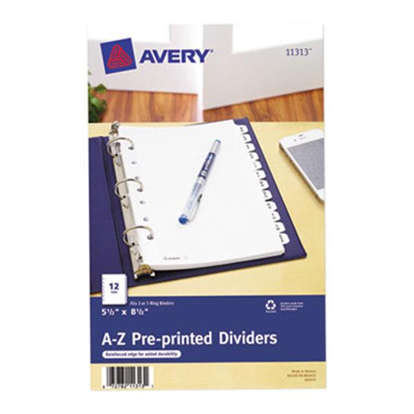 Avery 11313 Mini Pre-Printed 12-Tab A-Z Dividers Main Image 1