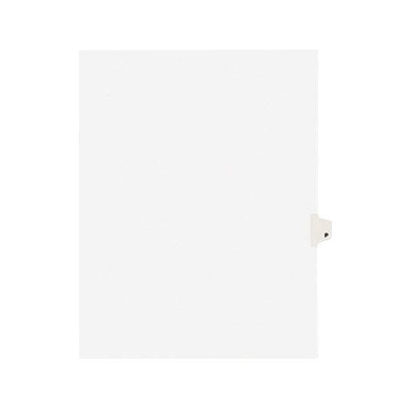 Avery 1416 Individual Legal Exhibit P Side Tab Divider - 25/Pack Main Image 1
