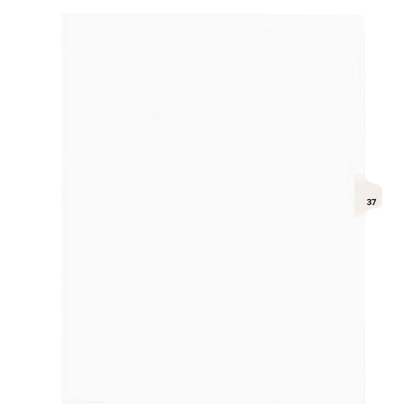 Avery 1037 Individual Legal Exhibit #37 Side Tab Divider - 25/Pack Main Image 1