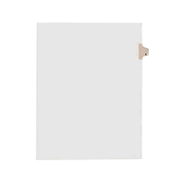 Avery 1405 Individual Legal Exhibit E Side Tab Divider - 25/Pack