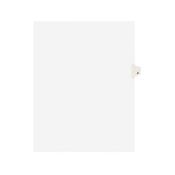 Avery 1410 Individual Legal Exhibit J Side Tab Divider - 25/Pack