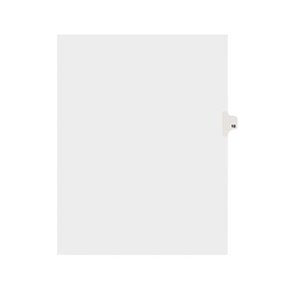 Avery 11920 Individual Legal Exhibit #10 Side Tab Divider - 25/Pack