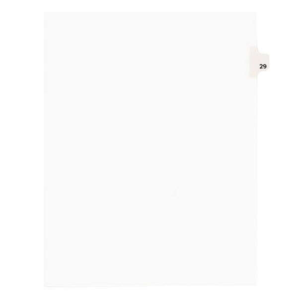 Avery 1029 Individual Legal Exhibit #29 Side Tab Divider - 25/Pack