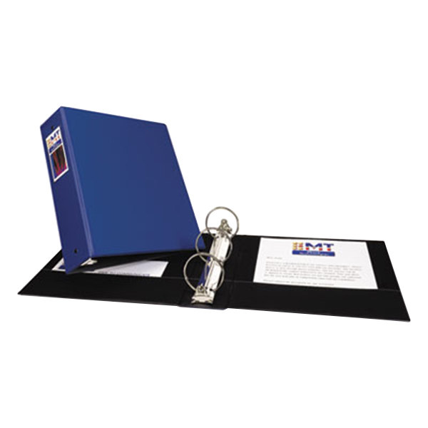 "Avery 4600 Blue Economy Non-View Binder with 3"" Round Rings and Spine Label Holder Main Image 1"