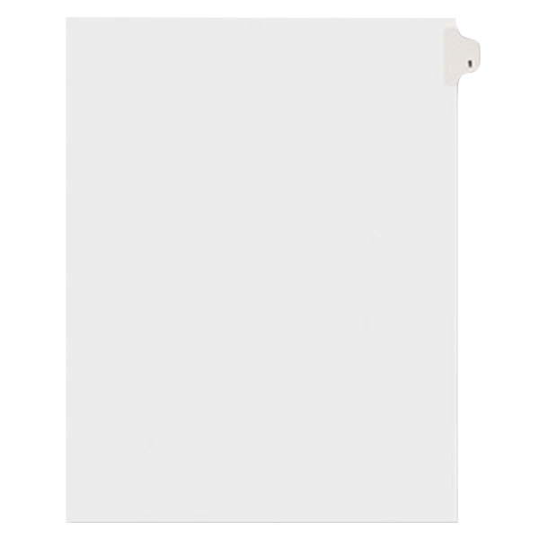 Avery 11911 Individual Legal Exhibit #1 Side Tab Divider - 25/Pack