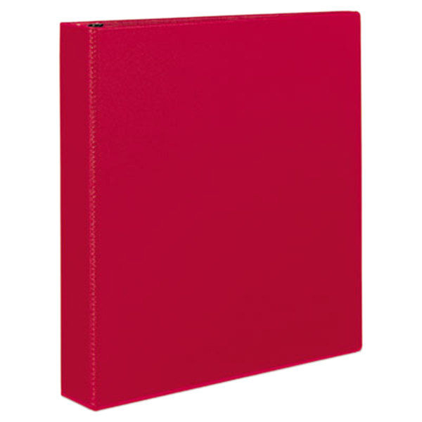 "Avery 27202 Red Durable Non-View Binder with 1 1/2"" Slant Rings Main Image 1"