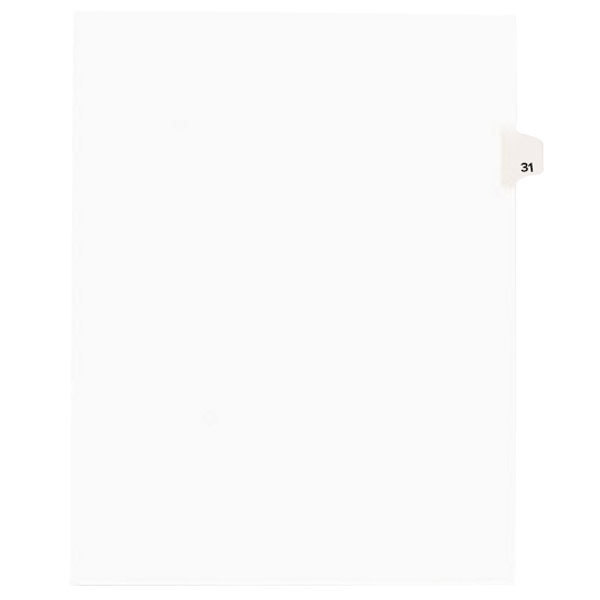 Avery 1031 Individual Legal Exhibit #31 Side Tab Divider - 25/Pack Main Image 1