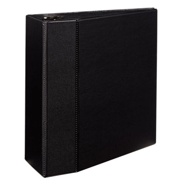 """Avery 7901 Black Durable Non-View Binder with 5"""" Locking One Touch EZD Rings and Thumb Notch Main Image 1"""