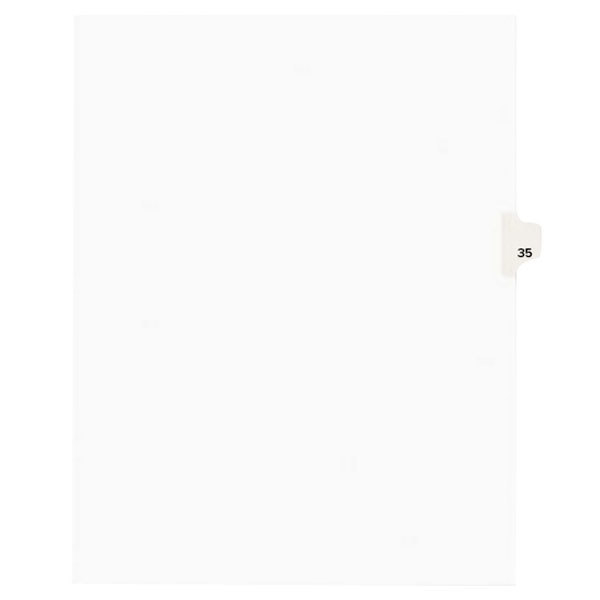 Avery 1035 Individual Legal Exhibit #35 Side Tab Divider - 25/Pack Main Image 1