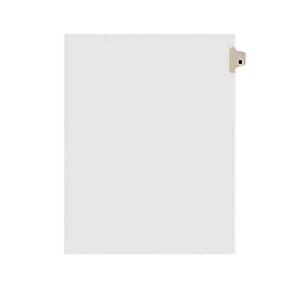 Avery 1402 Individual Legal Exhibit B Side Tab Divider - 25/Pack Main Image 1