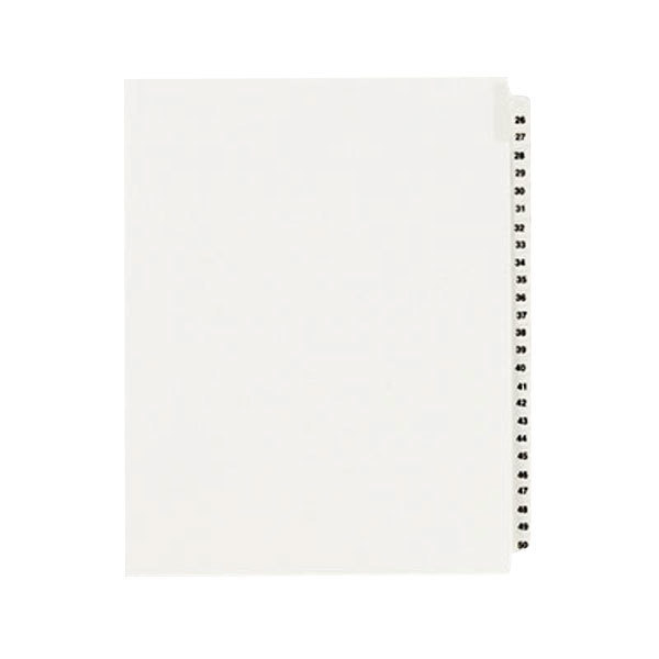 """Avery 1331 8 1/2"""" x 11"""" Standard Collated 26-50 Tab Legal Exhibit Dividers"""