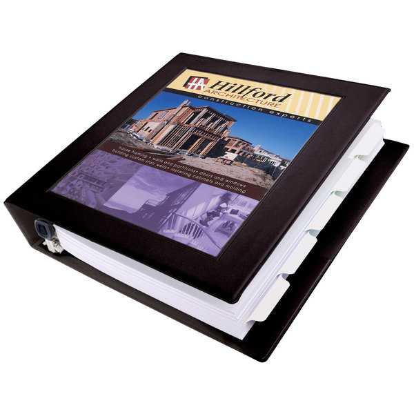 "Avery 68058 Black Heavy-Duty Framed View Binder with 1 1/2"" Locking One Touch EZD Rings"