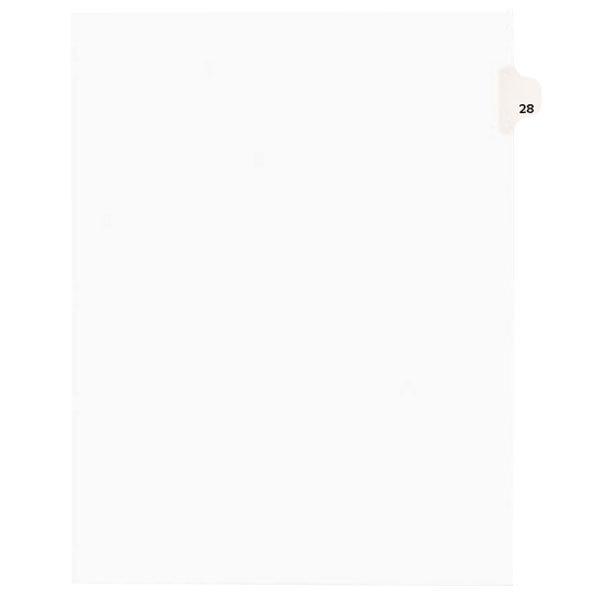 Avery 1028 Individual Legal Exhibit #28 Side Tab Divider - 25/Pack Main Image 1