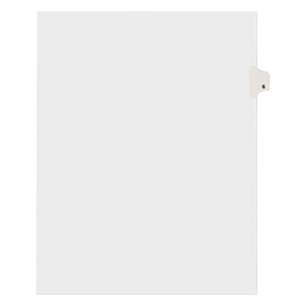 Avery 11916 Individual Legal Exhibit #6 Side Tab Divider - 25/Pack Main Image 1