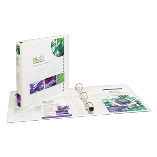 """Avery 1318 White Heavy-Duty View Binder with 1"""" Locking One Touch EZD Rings and Extra-Wide Covers Main Image 1"""