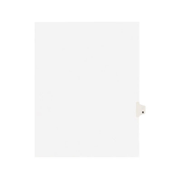 Avery 1418 Individual Legal Exhibit R Side Tab Divider - 25/Pack Main Image 1