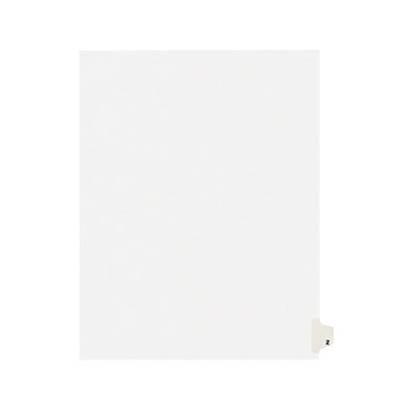 Avery 1426 Individual Legal Exhibit Z Side Tab Divider - 25/Pack Main Image 1