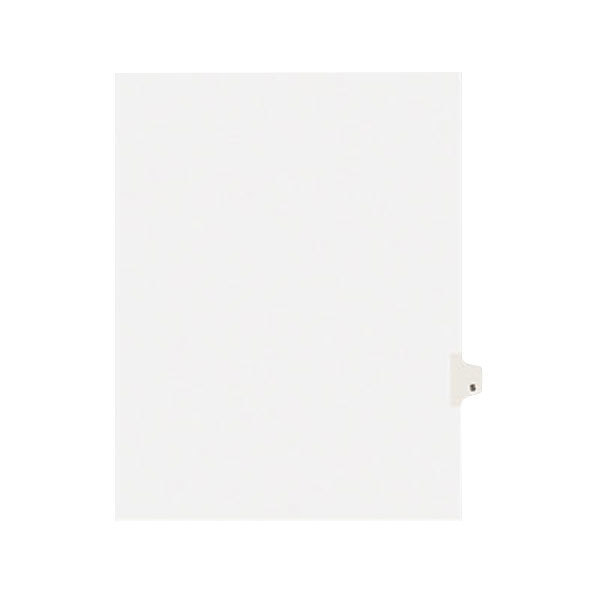 Avery 1419 Individual Legal Exhibit S Side Tab Divider - 25/Pack Main Image 1