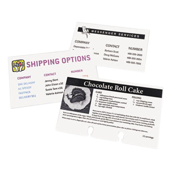 """Avery 5388 3"""" x 5"""" White Printable Unruled Index Cards - 150/Pack Main Image 1"""