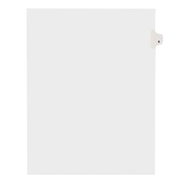 Avery 11914 Individual Legal Exhibit #4 Side Tab Divider - 25/Pack